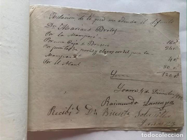 Documentos antiguos: LOARRE 1877 ( HUESCA ) LOTE DE 17 DOCUMENTOS / RECIBOS VARIOS, GASTOS, CONTRIBUCION - Foto 7 - 213725118
