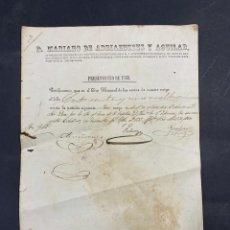 Documentos antiguos: 1860. DOCUMENTO EN EL QUE CONSTA LA VENTA DE UN NEGRO ESCLAVO. VER FOTOS. Lote 213759495