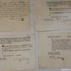Documentos antigos: VARIOS DOCUMENTOS PRINCIPIOS 1800. Lote 213924788