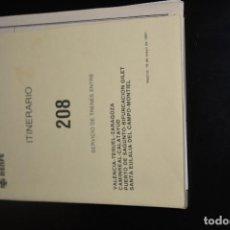 Documentos antigos: RENFE.ITINERARIO 208 SERVICIO DE TRENES 4ª ZONA.18 DE MAYO 1981. Lote 214029895