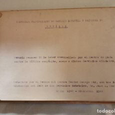 Documenti antichi: SEVILLA, 1944, MEMORIA RESUMEN DEL CENTRO DE LUCHA CONTRA LA SIFILIS CONGENITA,36 PAGINAS. Lote 214212623