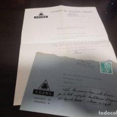 Documentos antiguos: DOCUMENTO SOBRE CARTA CENTRO DE ESTUDIOS ADAMS SAGASTA MADRID 1966. Lote 214221030