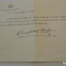 Documentos antiguos: ANTIGUA CARTA.CRISTOBAL PRIETO CARRASCO.INGENIERO CAMINOS.SEVILLA 1944. Lote 214297088