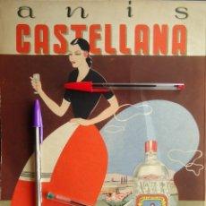 Documentos antiguos: PUBLICIDAD VINTAGE 1940 ANIS CASTELLANA SEGOVIA VALVERDE MANJANO CASTILLA BEBIDA GUERRA CIVIL. Lote 214434657