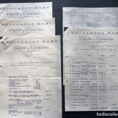 Documentos antiguos: CHOCOLATES MARY - VALIENTE Y COMPAÑIA / FUENTEALBILLA ( ALBACETE ) INVENTARIO Y BALANCE AÑO 1944. Lote 214527315