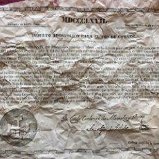 Documentos antiguos: DOCUMENTO RELIGIOSO ANTIGUO - INDULTÓ APOSTOLICO PARA EL USO DE CARNES - 1867. Lote 215252758