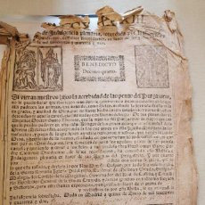 Documentos antiguos: RARA BULA DE INDULGENCIA PLENARIA, 1743, PAPA BENEDICTO XIV, 22X31 CMS. Lote 215575225