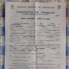 Documentos antiguos: CONTRATO ORQUESTA LÓPEZ MALDE - MANIÑOS (FENE) 1966. Lote 217116940