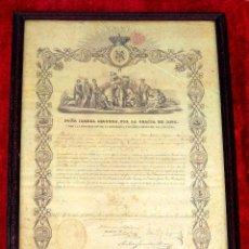 Documentos antiguos: NOMBRAMIENTO DE CABALLERO DE LA ORDEN ISABEL LA CATOLICA. PAPEL IMPRESO. ESPAÑA. 1861. Lote 217343750