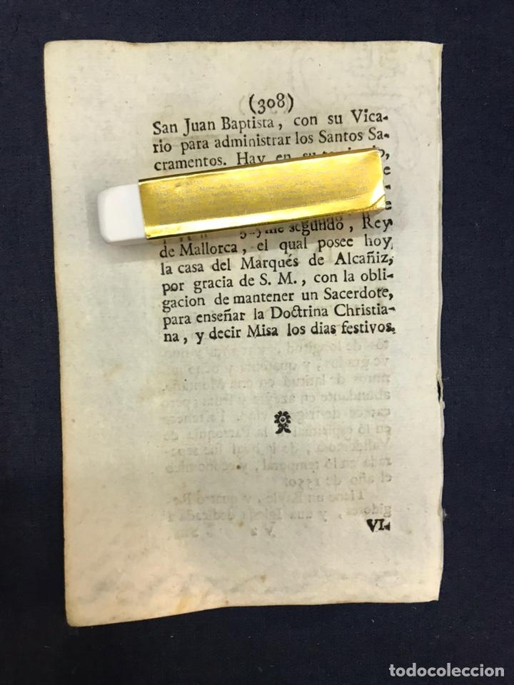 Documentos antiguos: DESCRIPCIÓN DE LA VILLA DE DEYA, DEL AÑO 1779. IMPRESO ORIGINAL. BALEARES. - Foto 2 - 217696488