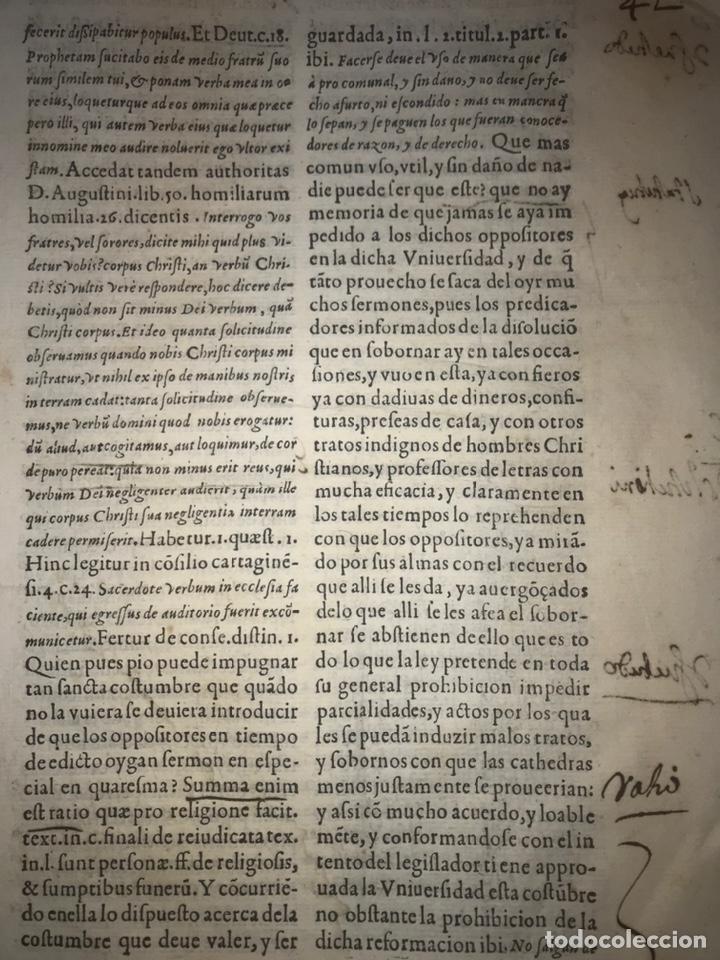 Documentos antiguos: CIRCA 1650. ALCALA DE HENARES. PLEITO SOBRE PLAZA CATEDRA UNIVERSIDAD ALCALÁ. FIRMA MANUSCRITA - Foto 3 - 217726145