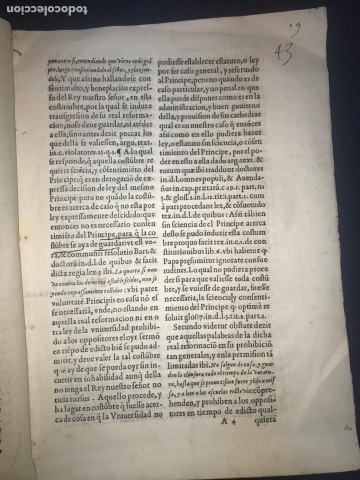 Documentos antiguos: CIRCA 1650. ALCALA DE HENARES. PLEITO SOBRE PLAZA CATEDRA UNIVERSIDAD ALCALÁ. FIRMA MANUSCRITA - Foto 4 - 217726145
