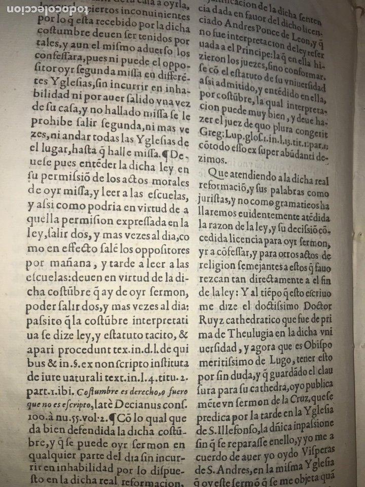 Documentos antiguos: CIRCA 1650. ALCALA DE HENARES. PLEITO SOBRE PLAZA CATEDRA UNIVERSIDAD ALCALÁ. FIRMA MANUSCRITA - Foto 6 - 217726145