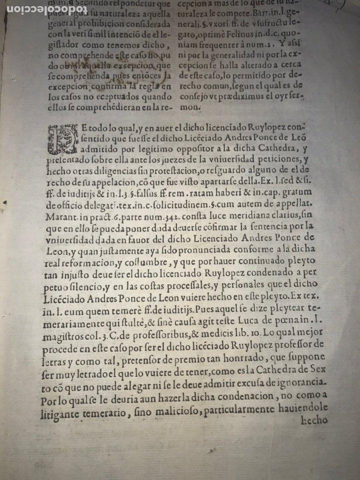 Documentos antiguos: CIRCA 1650. ALCALA DE HENARES. PLEITO SOBRE PLAZA CATEDRA UNIVERSIDAD ALCALÁ. FIRMA MANUSCRITA - Foto 7 - 217726145