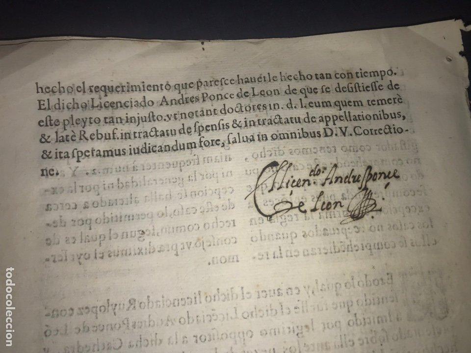 Documentos antiguos: CIRCA 1650. ALCALA DE HENARES. PLEITO SOBRE PLAZA CATEDRA UNIVERSIDAD ALCALÁ. FIRMA MANUSCRITA - Foto 8 - 217726145