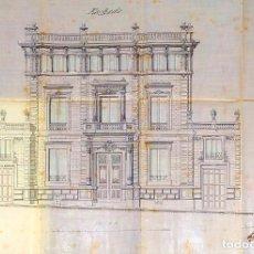 Documentos antiguos: PROYECTO PARA PALACETE EN SARRIÀ, BARCELONA. ARQUITECTO ANTONIO SERRA. ESPAÑA. 1885. Lote 218074522
