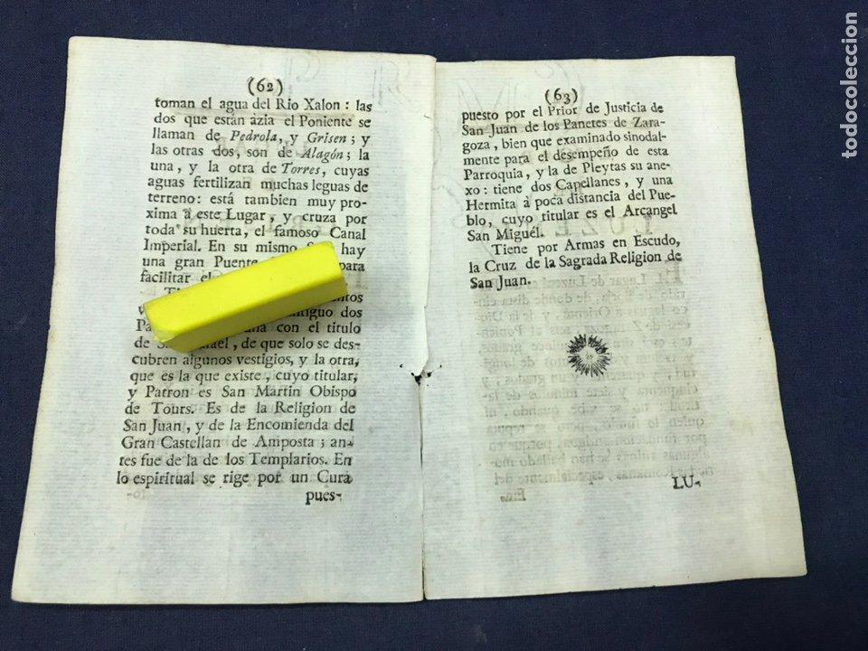 Documentos antiguos: DESCRIPCIÓN DEL LUGAR DE GRISEN, DEL AÑO 1779. IMPRESO ORIGINAL. - Foto 2 - 218419190