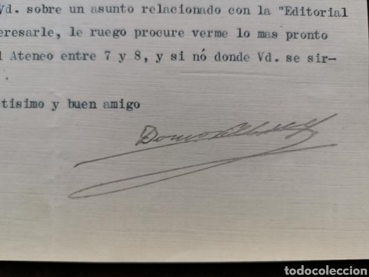 Documentos antiguos: Carta firmada por el abogado Domingo Villar Grangel al Dr. Sánchez de Rivera - Foto 2 - 218628455