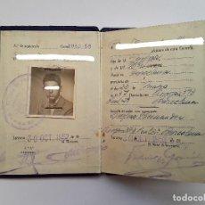 Documentos antiguos: CARNET - CARTILLA DE LA ESCUELA DE PERITOS INDUSTRIALES DE TARRASA (TERRASSA), 1952-53. ENVÍO GRATIS. Lote 219057247
