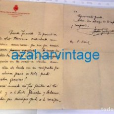 Documentos antiguos: HOTEL WASHINGTON IRVING, ALHAMBRA, GRANADA, AÑOS 20, CARTA FIRMADA POR ANTONIO GALLEGO BURIN. Lote 219315780