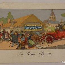 Documentos antiguos: MALAGA, 1914, POSTAL FIRMADA POR FERNANDO PRIES , II CONDE DE PRIES, GENTILHOMBRE DE S.M.. Lote 219321072