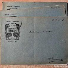 Documentos antiguos: 3 LIBRETAS MANUSCRITAS CON APUNTES DE QUÍMICA (1900-1910). Lote 219389083