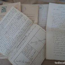 Documentos antiguos: INTERESANTES DOCUMENTOS DE HERENCIA, VECINOS DE CATLLAR Y CALAFELL 1895-1905-1906-1927-1940. Lote 220004625