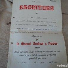 Documentos antiguos: ESCRITURA DE HERENCIA,1926 INTERESANTE POLIZA DE HACIENDA PROVINCIAL. Lote 220043210