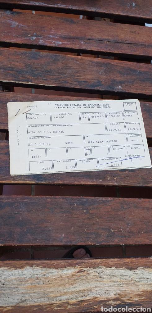TRIBUTOS LOCALES ,LICENCIA FISCAL (Coleccionismo - Documentos - Otros documentos)