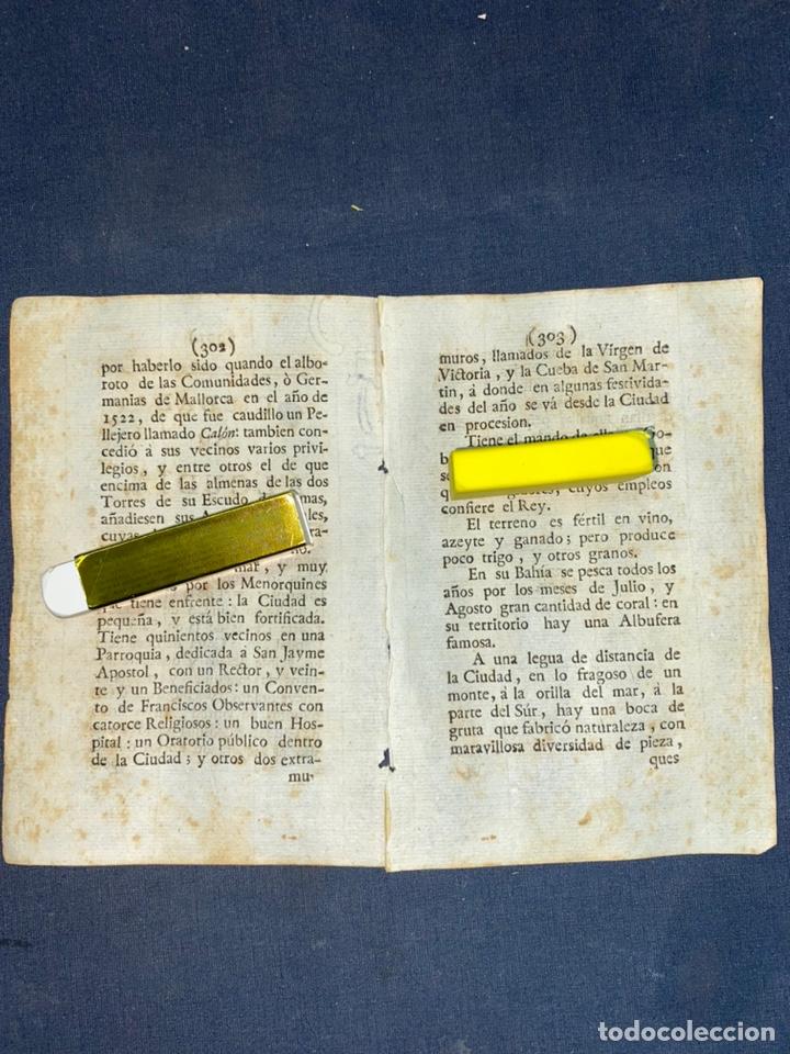 Documentos antiguos: DESCRIPCIÓN DE LA CIUDAD DE ALCUDIA, DEL AÑO 1779. IMPRESO ORIGINAL. BALEARES. - Foto 2 - 220090921
