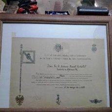 Documentos antiguos: FIRMA DE F. FRANCO.. TITULO DE CABALLERO DE LA REAL Y MILITAR ORDEN DE SAN HERMENEGILDO..1967. Lote 220253291