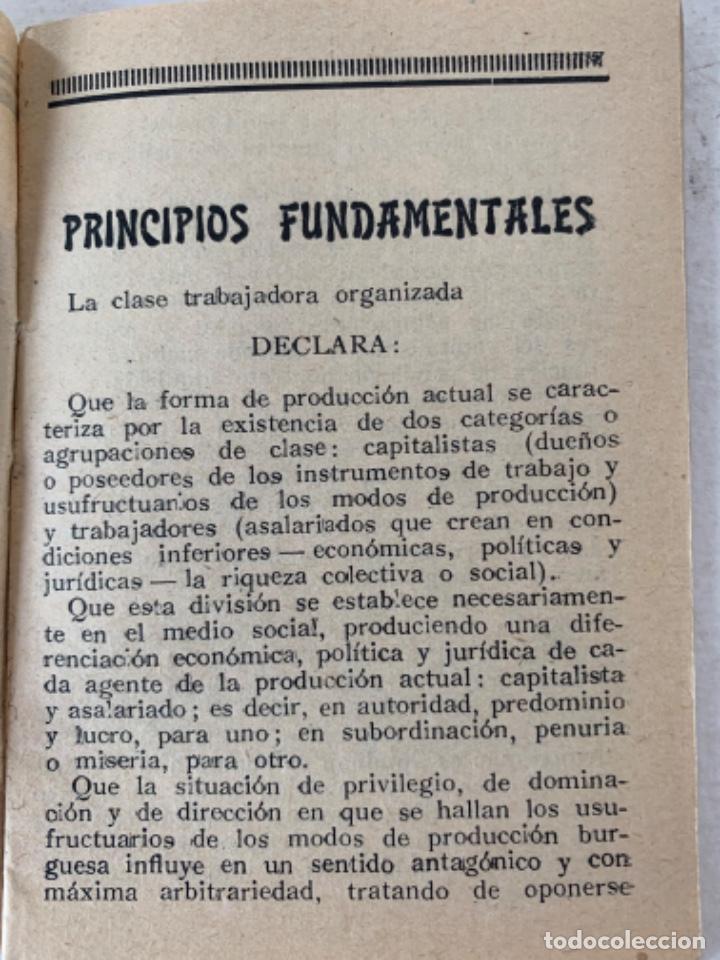 Documentos antiguos: Estatutos de la Unión General de Trabajadores, documento - Foto 2 - 220849471