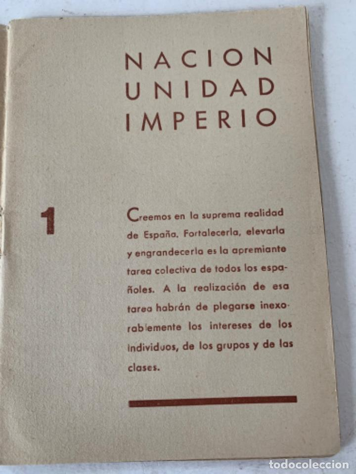 Documentos antiguos: Norma Programática del Nuevo Estado, Falange española - Foto 2 - 220849763