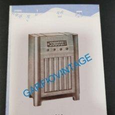 Documentos antiguos: ANTIGUO TRIPTICO PUBLICITARIO OPTIMUS RADIO, RADIOS Y RADIOGRAMOLA. Lote 221107552