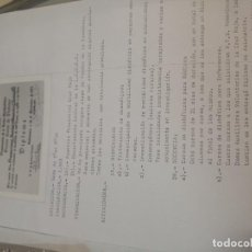 Documentos antiguos: DOCUMENTO ESCRITO HA MAQUINA CON DIPLOMA OTORGADO CURSO DIABETES AÑO 1976. Lote 221414947