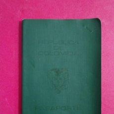 Documentos antiguos: PASAPORTE DE COLOMBIA 1976 PASSPORT,PASSEPORT,REISEPASS. Lote 221471056
