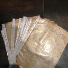 Documentos antiguos: LOTE 21 DOCUMENTOS AÑO 1641 SELLO QUARTO 10 MARAVERIS LATIN. Lote 221951043