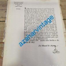 Documentos antiguos: SEVILLA, 1827, RECLAMACION DINERO PARA CONSERVACION JARDIN AGRONOMO Y PAGO CATEDRA AGRICULTURA. Lote 221956317
