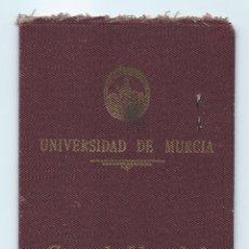 Documentos antiguos: D. MANUEL R. C. LDO.EN CIENCIAS QUÍMICAS. UNIVERSIDAD DE MURCIA. CARTA DE IDENTIDAD. MURCIA. 1948.. Lote 221980478