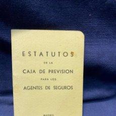 Documentos antiguos: ESTATUTOS CAJA PREVISION AGENTES DE SEGUROS MADRID 1964 12,5X9CMS. Lote 221985150