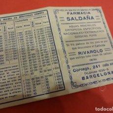 Documentos antiguos: FARMACIA SALDAÑA. BARCELONA. LOTE 4 CARNETS DE PESADA. AÑOS 1920S. Lote 221993453