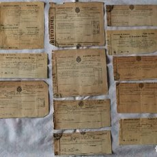 Documentos antiguos: LOTE 18 DOCUMENTOS CONTRIBUCIÓN, REPARTIMIENTO Y GUARDERÍA RURAL PUEBLO DE ONDA (CASTELLÓN) AÑOS 20. Lote 222024108