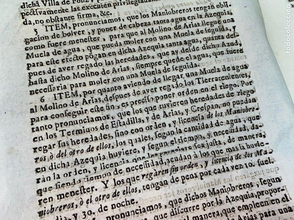 Documentos antiguos: 1663-1726. CLAUSULAS DE LA CONCORDIA ENTRE LA VILLA DE FONZ Y LA DE ESTADILLA. HUESCA. Y PLEYTO. 2 - Foto 3 - 222064872