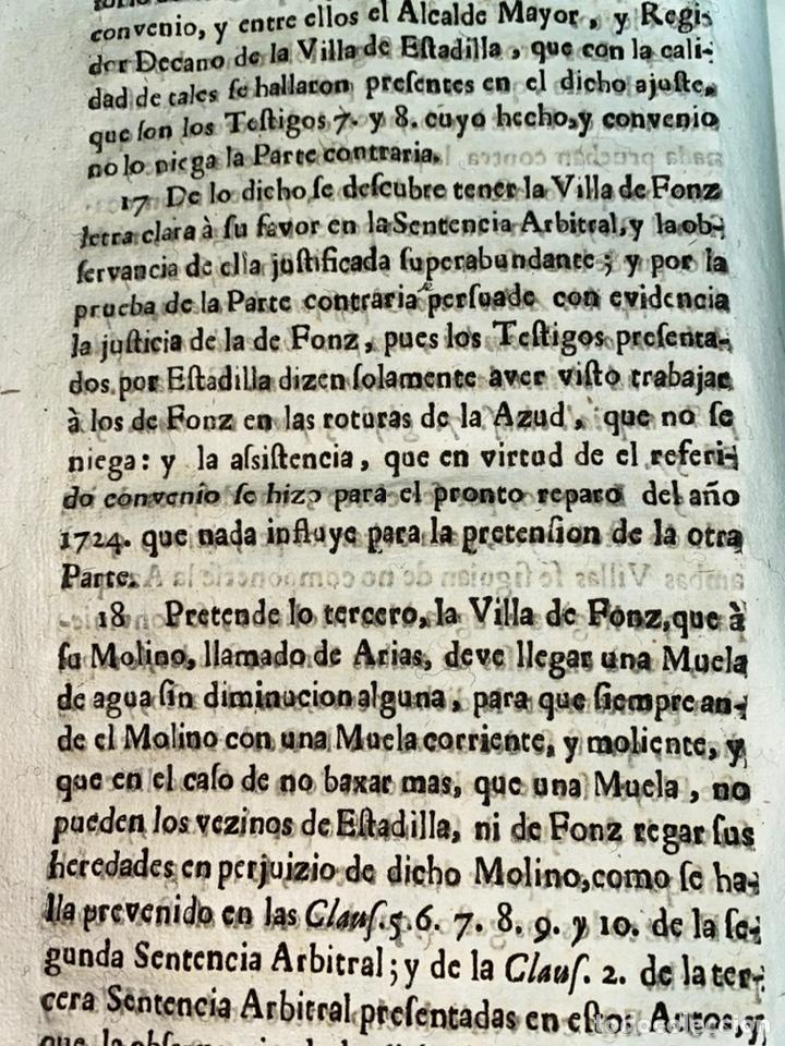 Documentos antiguos: 1663-1726. CLAUSULAS DE LA CONCORDIA ENTRE LA VILLA DE FONZ Y LA DE ESTADILLA. HUESCA. Y PLEYTO. 2 - Foto 10 - 222064872