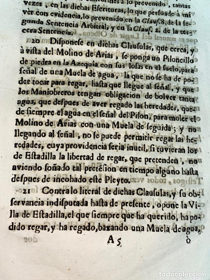 Documentos antiguos: 1663-1726. CLAUSULAS DE LA CONCORDIA ENTRE LA VILLA DE FONZ Y LA DE ESTADILLA. HUESCA. Y PLEYTO. 2 - Foto 11 - 222064872
