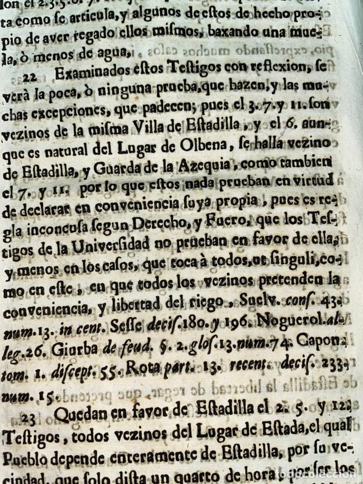 Documentos antiguos: 1663-1726. CLAUSULAS DE LA CONCORDIA ENTRE LA VILLA DE FONZ Y LA DE ESTADILLA. HUESCA. Y PLEYTO. 2 - Foto 12 - 222064872