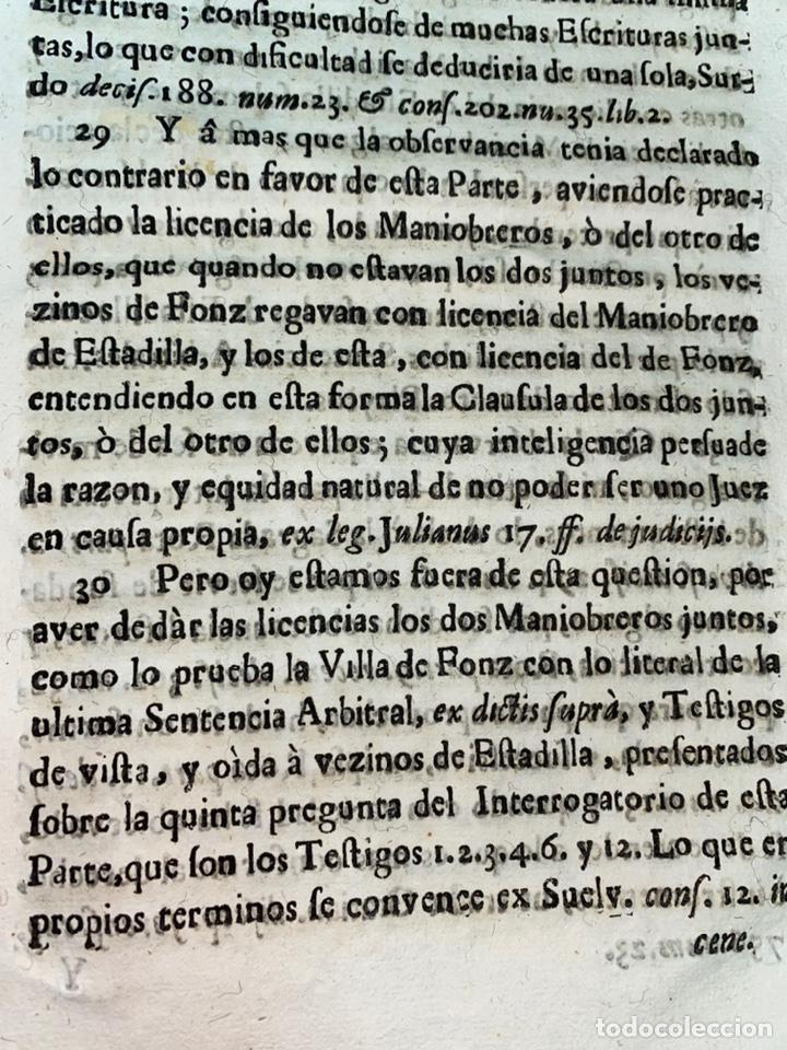 Documentos antiguos: 1663-1726. CLAUSULAS DE LA CONCORDIA ENTRE LA VILLA DE FONZ Y LA DE ESTADILLA. HUESCA. Y PLEYTO. 2 - Foto 13 - 222064872