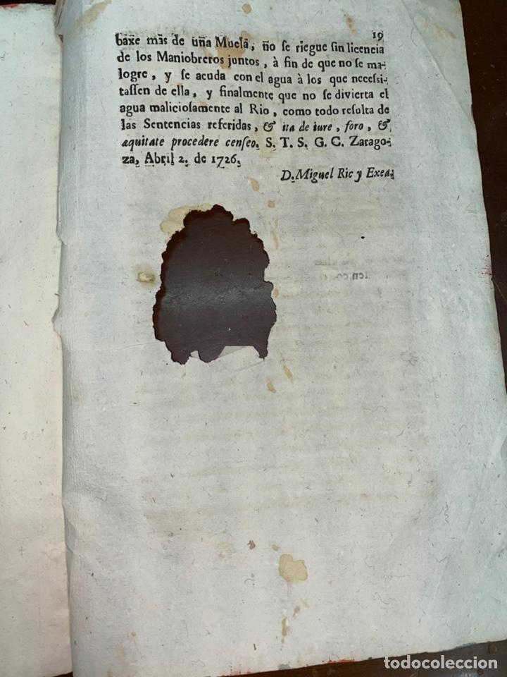 Documentos antiguos: 1663-1726. CLAUSULAS DE LA CONCORDIA ENTRE LA VILLA DE FONZ Y LA DE ESTADILLA. HUESCA. Y PLEYTO. 2 - Foto 15 - 222064872