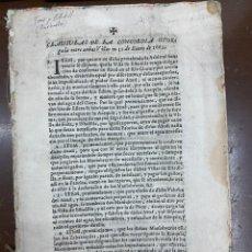 Documentos antiguos: 1663-1726. CLAUSULAS DE LA CONCORDIA ENTRE LA VILLA DE FONZ Y LA DE ESTADILLA. HUESCA. Y PLEYTO. 2. Lote 222064872