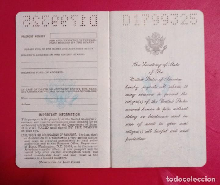 Documentos antiguos: Pasaporte de USA 1973, passport,passeport,reisepass - Foto 4 - 222077338